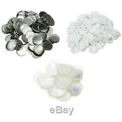 1000Pcs/Pack x 37mm Metal/ABS Pin Badge Button Supplies for Badge Maker Machine