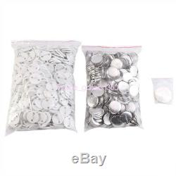 1000 Buttons Circle Badge Punch Press Pin 1/1.25/2.28 Button Maker Machine ho