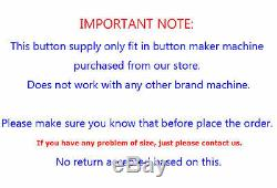1000sets 2-1/4 58mm Pin Badge Button Parts Supplies Button maker DIY HOT SALE