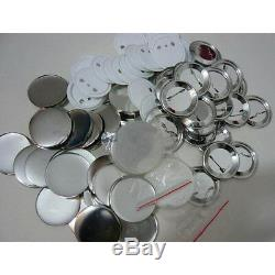 1000x1-1/4 (32mm) Blank Pin Badge Button Supplies Parts for Badge Maker Machine