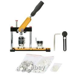 1 1.25 2.25 Button Maker Badge Machine with100 Sets Circle Button Parts Rotate
