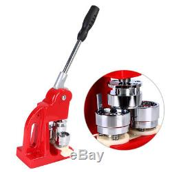 1/1.25/2.28 Button Maker Badge Punch Press + 1000 Parts Circle Cutter Tool