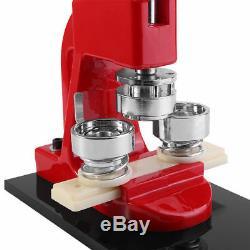 1 1.25 2.28 Button Maker Badge Punch Press Machine + 1000 Parts Circle Cutter