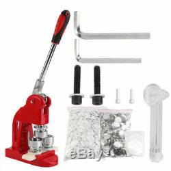 1/1.25/2.28 Button Maker Badge Punch Press Machine with1000 Parts Circle Cutter