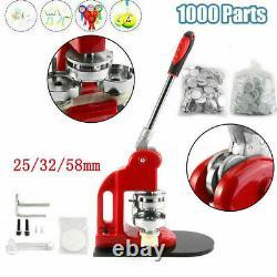 1 1.25 2.28 Button Maker Machine Badge Punch Press 1000 Parts Circle Cutter