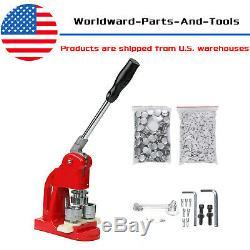 1 1/4 Button Badge Maker Punch Press Machine 1000PCS Parts & Circle Cutter US