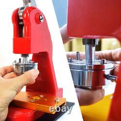 1.25 2.28 Button Maker Machine Badge Punch Press 1000 Parts Circle Cutter US