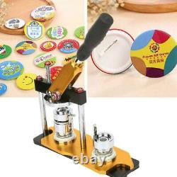 1.25 32mm Rotate Button Machine Manual Badge Maker with100 Buttons for DIY