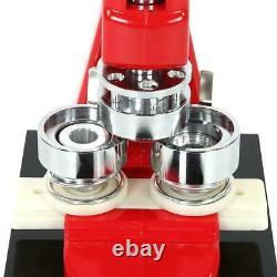 1.25 Fast Badge Button Maker Punch Press Machine 1000 Parts & Circle Cutter USA