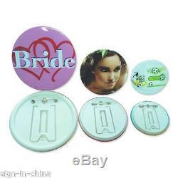 1 25mm Button Maker Machine Badge Press+1000 Button Supplies+1pc Circle Cutter
