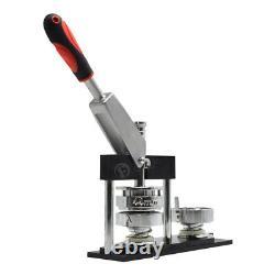 1''-2.28'' Aluminum Badge Maker Machine Circle Cutter +300 Set Buttons Parts DIY