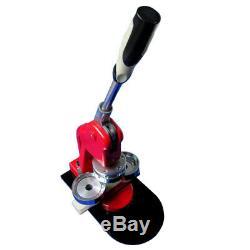 1-3/4 44mm Button Maker Machine Badge Press+1000 Button Supplies+Circle Cutter