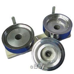 1-3/4 44mm Button Maker Machine Badge Press+1000 Buttons+1pc 44mm Circle Cutter