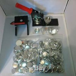 1-3/4 inch New Tecre Badge Button Maker+Graphic Punch+1000 Buttons Pin Parts
