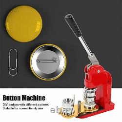 1.3in Button Maker DIY Round Pin Kit 1-1/4in Badge Punch Press Machine 1000 Part