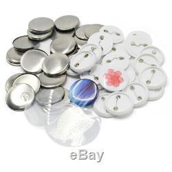 1.45'' 37mm Button Maker Badge Machine 300 Sets Supplies Parts Circle Cutter US