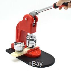 1.45'' Button Maker Punch Press Machine Hand Crafting Tool+300PCS Badge Parts