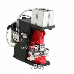 220V Pneumatic Badge Machine Automatic Button Round Badge Maker with 44mm Mold New