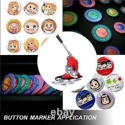 25/32/44/58mm Button Maker Badge Punch Press Machine +1000pcs components buttons