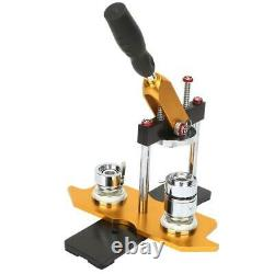 25/32/58mm Button Maker Machine+100 Buttons Circle Badge Punch Press Rotate