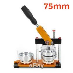 25/58/75mm Button Maker Machine+100 Buttons Circle Badge Punch Press+Cutter best