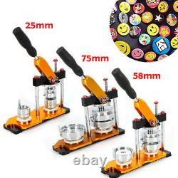 25/58/75mm Button Maker Machine DIY Badge with100 Buttons Circle Punch Press Pin
