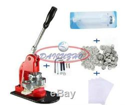 25mm 1 Button Maker Machine Badge Punch Press 100 Parts Circle Cutter Tool