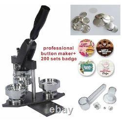 25mm 1 Interchangeable Button Maker Machine Badge Material KIT