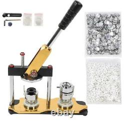 25mm Rotating Button Maker Machine Badge Press With 1000Pcs Buttons And 3 Dies