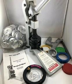 2 1/4 Button Maker Badge-A-Matic by Badge-A-Minit Plus Hand Press Plus Supplies