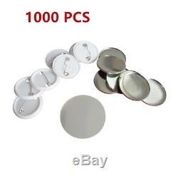 2-1/4'' Round Button Badge Making Machine DIY Badge Maker +1000 Button Supplies