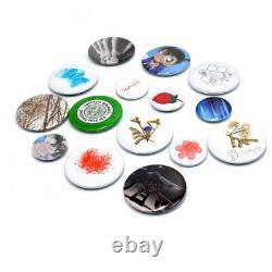 2.28 58mm Button Badge Maker Machine Punch Press Pin & Free Circle Cutter DIY
