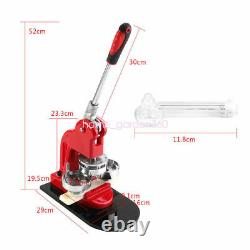 2.28 58mm Button Maker Machine Badge Punch Press 1000 Parts Circle Cutter Tool