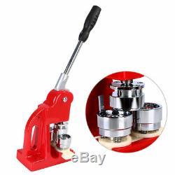 2.28 Button Badge Maker Punch Press Machine 1000 PCS Parts & Circle Cutter US