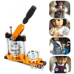 2.28 Button Maker Badge Punch DIY with 100 Sets Circle Button Parts Manual Rotate