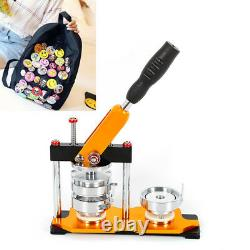 2.28 Button Maker Badge Punch Press Machine DIY Tool with 100 Circle Button Parts