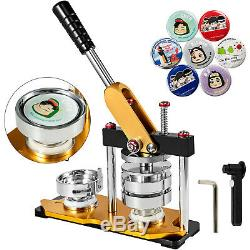 2.28'' Button Maker Punch Press Machine Die Mould 100 Buttons Circle Badge