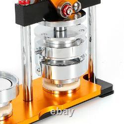 2.28 Manual Button Maker Punch Press Machine Die Mould 100 Sets Badge Parts US