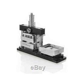 2½3½ 6590mm Button Maker Machine+300 Buttons Rectangle Badge Punch Press Pin