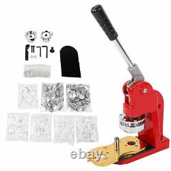 2.3 Button Maker Punch Press Machine DIY Round Pin Maker Kit With 500 Badge Parts