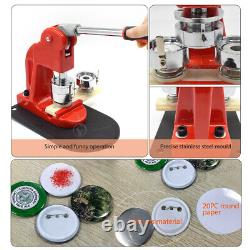 2 50mm Badge Maker Machine Button Press Mold + Circle Cutter + 300 Button Parts