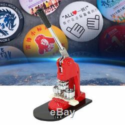 2.5/3.2/5.8 Button Maker Machine 1000 Buttons Circle Badge Punch Press Pin