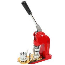 32mm 1.3in Button Maker Badge Press 1000 Pcs Circle Cutter Manual Making Machine
