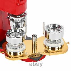 32mm Badge Press Kit Button Maker 1000 Pcs DIY Circle Cutter Manual Machine