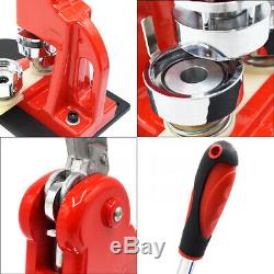 37/44/50/58mm Button Maker Badge Punch Press Machine with 300PCS Badge Pin Parts
