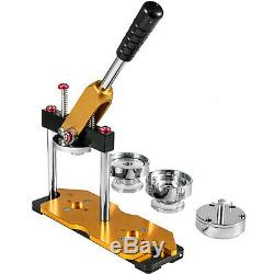 37mm 1.45'' Badge Button Maker Machine + 200 Buttons Circle Badge Punch Press