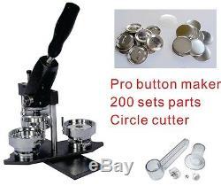 37mm 1.5 Interchangeable Button Maker Machine Badge Material KIT