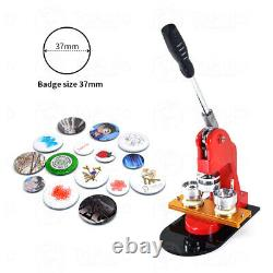 37mm/58mm Button Maker Badge Press Circle Cutter Manual Making Machine Kits US