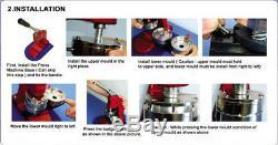 3'' (75mm) Button Badge Maker Machine Round Badge Making Machine +1 Mold