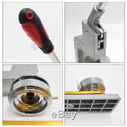 3'' Button Maker Machine 75mm Badge Punch Press Interchangeable Mould 200 PCS/H